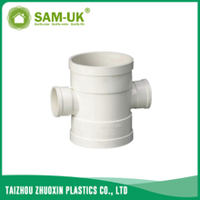 PVC DWV reducing cross for drainage water