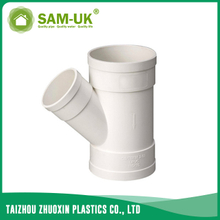 PVC DWV reducing wye for drainage water