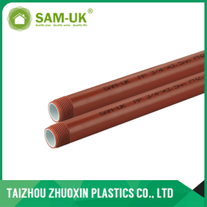Plastic Tube Tubos Adaptador Tuberia Brown Color PPH Pipe and fittings