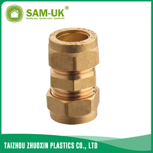 Brass pipe coupling for water supply