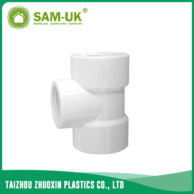 PVC threaded reducing tee for water supply BS 4346