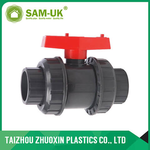 PVC double union ball valve ( socket )