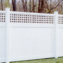 Privacy fence with top lattice DY003