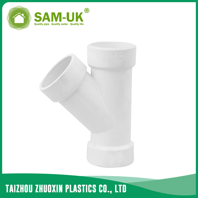 PVC wye fitting for drainage water ASTM D2665