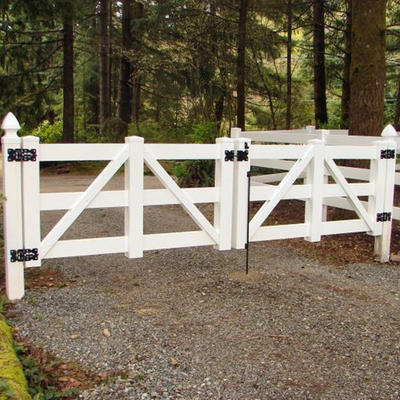 Double Gate For Rail Fence