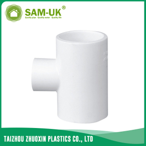 PVC reducing tee for water supply Schedule 40 ASTM D2466